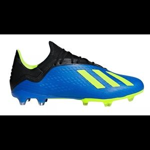 Adidas X 18.2 FG  Cleat DA9334 - BLUE, BLACK, LIME